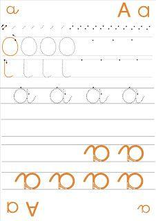 La maternelle de Laurène: fiches écriture des lettres en cursive