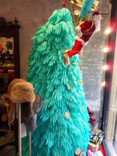 Christmas tree made with surgical gloves