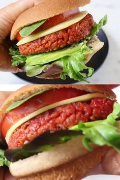 The best homemade vegan burger patties recipe with beets, brown rice and protein loaded soy curls or TVP crumbles. Easy, meaty and hearty, skip the oil and make it totally whole foods plant based compliant. Veg Burger Patty Recipe, Vegan Veggie Burger, Veggie Food, Delicious Vegan Recipes, Vegetarian Recipes, Healthy Recipes, Tvp Recipes, Veggie Burgers, Recipes