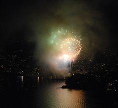 La Piccola Casa: 8 settembre i fuochi d'artificio di Recco visti da San Rocco di Camogli La Sagra del Fuoco