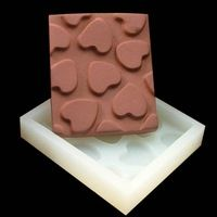 New DIY silicone molds for cake 7.5*6.5*1 CM pudding jelly dessert chocolate mould handmade soap mold F0403AX50