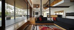 Image 23 of 47 from gallery of One Wybelenna / Shaun Lockyer Architects. Photograph by Scott Burrows Residential Interior Design, Interior Architecture, Brisbane Architects, Built In Furniture, Property Design, Open Plan Living, House Layouts, Luxury Homes, Villa