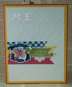 Banner Greetings, Label Love, Gingham Garden DSP and Washi Tape from the 2013-14 Stampin' Up! Catalog.  www.CreateWithME.com