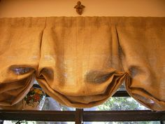 I like this valance for the family room. It's a very relaxed balloon shade without too much fabric, and it uses a rod (which is nice since I already have the rods on the windows). Window Coverings, Window Treatments, Rustic Valances, Balloon Valance, Balloon Shades, Primitive Curtains, Floor Ceiling, Box Pleats, Dream Decor
