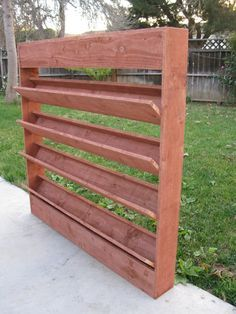 Wall planter - considering something like this for the deck to grow herbs?