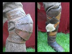 Leather viking(ish) armor. took me three weeks and some blisters. but i'm satisfied with the result. ^^ it weights 2.8 killogram and is made from pure natural leather only. but its not finished act...
