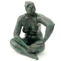 """Armando Amaya, Mexican (1935) Bronze sculpture """"Seated Woman"""" Signed Amaya 1984. Good condition. Measures 9-3/4"""" H. Shipping $85.00 (estimate $1500-$2500) – Kodner Galleries 4 H, Bronze Sculpture, Oriental Rug, Galleries, Mexico, Auction, Fine Art, Statue, Woman"""