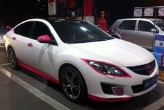 the pink accents look pretty sick.  mazda<3