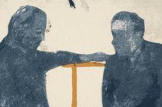 The Conversation (Het Gesprek), 1995, Zeefdruk / Screenprint , Uitgegeven door Middelheim Promotors, Antwerpen / Published by Middelheim Promotors, Antwerp, Oplage van 150 / Edition of 150 , 10 AP