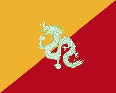 Flag of Bhutan (1949-1956) - 不丹國旗 - 維基百科,自由的百科全書