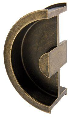 Cranwell Round Recessed Pull Antique Bronze Custom