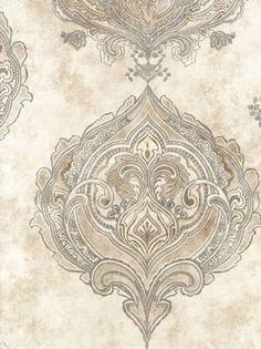 Galerie Wallpaper, Damask Wallpaper, Damasks, Persian, Vintage World Maps, Places To Visit, Boho, Patterns, Chic