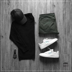 Men Casual T-Shirt Outfit 🖤 Very Attractive Casual Outfit Grid, Fashion Mode, Latest Fashion Clothes, Daily Fashion, Mens Fashion, Gq Style, Mode Style, Style Outfits, Fashion Outfits, Casual Outfits