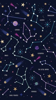Constellations Wallpaper Phone – Night Sky Stars – Zodiac Signs – Astrological Signs – My Pin Page Wallpaper Space, Cute Wallpaper Backgrounds, Galaxy Wallpaper, Screen Wallpaper, Phone Backgrounds, Cool Wallpaper, Mobile Wallpaper, Cute Wallpapers, Iphone 7 Plus Wallpaper