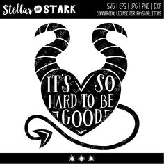 It's So Hard to be Good Svg - Wicked Witch Svg - Halloween Svg - Devil Svg - Devil Heart Svg - Candy Bag Svg - Maleficent Horns Svg - Nurses Week Quotes, 3d Templates, Halloween Templates, Animated Gifs, Wicked Witch, Silhouette Projects, Silhouette Images, Silhouette Design, Cricut Creations