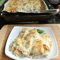Chicken Alfredo Lasagna.  This Lasagna is so good!