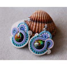 Swarovski Rivoli Soutache Earrings Tutorial - Downloadable