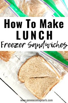 Fast Freezer Sandwiches for Easy Lunch Prep &; Pennies into Pearls Fast Freezer Sandwiches for Easy Lunch Prep &; Pennies into Pearls Pennies into Pearls penniesinpearls {Ten Dollar DiY} This is […] work lunch Bulk Cooking, Batch Cooking, Freezer Cooking, Cooking Recipes, Make Ahead Freezer Meals, Frugal Meals, Cheap Meals, Inexpensive Meals, Freezer Recipes