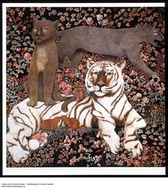 A Tiger and Other Cats by Heather Cooper Great Paintings, Nudes, Great Artists, Illustrations Posters, Masters, Renaissance, Image Search, Illustration Art, Lion Sculpture