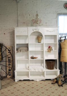 Painted Cottage Chic Shabby White Handmade by paintedcottages