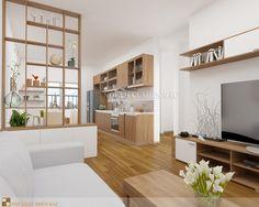 Thiết kế nội thất phòng khách cho căn hộ diện tích nhỏ