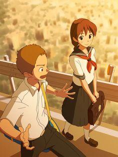 Whisper of the Heart   Hiiragi Aoi   Studio Ghibli / Harada Yuuko and Sugimura / 「夕子と杉村」/「鳥男@ジュプトル」のイラスト [pixiv]