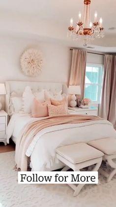 Modern Luxury Bedroom, Master Bedroom Interior, Room Design Bedroom, Room Ideas Bedroom, Home Room Design, Luxurious Bedrooms, Diy Bedroom Decor, Interior Design Living Room, Master Bedroom Chandelier