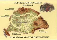 A Hungarian nationalist picture showing the losses of Hungary after the 1920 Treaty of Trianon. Hungary History, Hungarian Embroidery, Heart Of Europe, Austro Hungarian, Historical Maps, Budapest Hungary, My Heritage, Illustrations And Posters, Vintage Posters