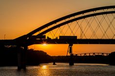 #Bridge #Sunrise and Two Trucks by Patti Deters #LookTowardstheSky