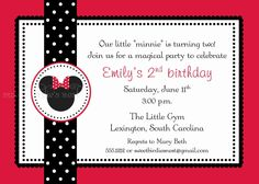 Minnie Mouse Silhouette Party Invitation. $28.00, via Etsy.