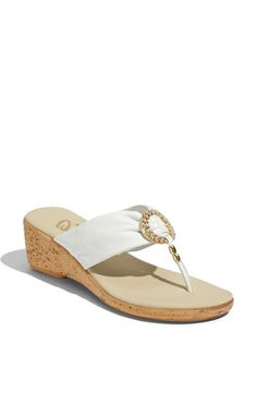 Beach wedding shoes.....Onex 'Sunshine' Sandal available at #Nordstrom
