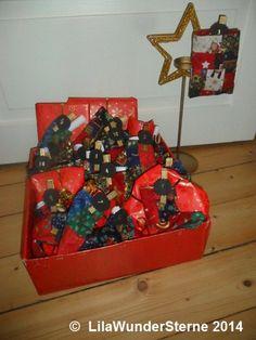 Adventskalender im Schuhkarton / Advent calendar in a shoe box / Upcycling