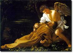 Caravaggio | St Francis in Ecstasy, c.1595 - Direct Art Australia,  Price: $199.00,  Availability: Delivery 10 - 14 days,  Shipping: Free Shipping,  Minimum Size: 50 x 60 cm,  Maximum Size : 100 x 150 cm,  Australia's number one Oil Painting supplier with 7+ years of delivering masterpieces Austrlalia wide.  www.directartaustralia.com.au/