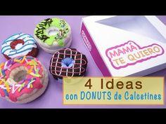 IDEAS CON DONUTS DE CALCETINES - Regalos para el Día de la Madre - YouTube