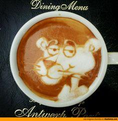 Arte del café con leche: La Pantera Rosa
