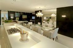 sala de jantar com mesa preta - Pesquisa Google