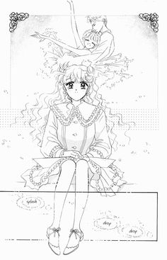 "Art from ""The Cherry Project"" series by manga artist & ""Sailor Moon"" creator Naoko Takeuchi. Sailor Moon Manga, Sailor Moon Art, Sailor Moon Crystal, Moon Sketches, Naoko Takeuchi, Sailor Moon Aesthetic, Moon Images, Princess Serenity, Manga Artist"