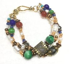 Jewelry/ Bracelet// MultiStrand//Labor of Love by CatchyTreasures