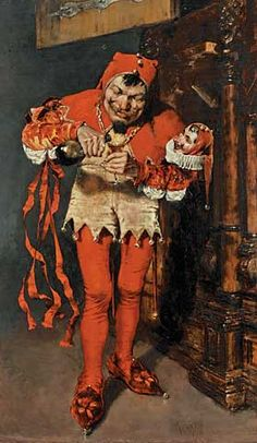 William Merritt CHASE The Court Jester, 1875.Oil on canvas, 39-1/4 x 25 inches