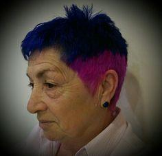 Creacion Giovanni Zanetti Peluqueros Color semi-permanente aplicación directa al cabello.Libre de amoniacoy peróxido, color fantasia stargazer brillo y textura magnificos,muchas gracias a nuestr@ clientes por ser como son y dejarnos colaborar en desarrollar una peluqueria real y actual.