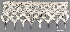 Edging Date: first half 16th century Culture: Italian, Venice Medium: Bobbin lace Dimensions: L. 9 x W. 4 inches (22.9 x 10.2 cm) Classification: Textiles-Laces Credit Line: Rogers Fund, 1920 Accession Number: 20.186.189