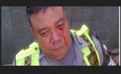 Gak Terima Ditilang, Pemotor Tonjok Polisi Sampai Berdarah-darah | Motor Ganteng