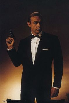 Sean Connery rocked the bow tie quite well in his Bond years. #bowtietuesday