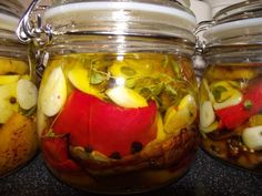 Nakladané pečené papriky Pickles, Cucumber, Canning, Food, Belle, Home Canning, Eten, Pickle, Pickling