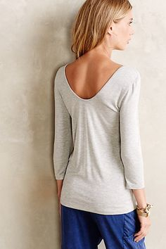 Ballet Scoop Tee #anthrofave such great lines. So graceful.