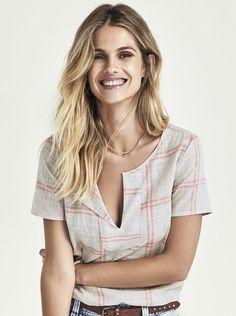 Blusa Feminina Em Algodão Com Estampa Xadrez | Blusas | Feminino | Hering