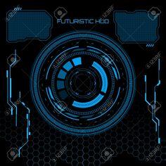 Illustration of Sci fi futuristic user interface. vector art, clipart and stock vectors. Interface Design, User Interface, Apple Watch Wallpaper, Game Ui Design, Disney Concept Art, Photo Images, Screen Design, Banner Printing, Dark Art
