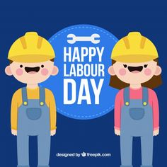 Labour day background with happy workers. Download thousands of free vectors on Freepik, the finder with more than 3 millions free graphic resources Labour Day, Happy Labor Day, Happy People, Creative Design, Vectors, Vector Free, How To Draw Hands, Hand Reference