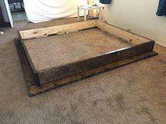 Cheap Platform Beds, Diy Platform Bed Plans, Rustic Platform Bed, King Platform Bed Frame, Solid Wood Platform Bed, Build Bed Frame, Diy King Bed Frame, Bed Frame Plans, California King Bed Frame