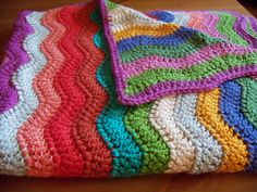 Baby Ripple Blanket #crochet